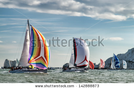 stock-photo-isle-of-wight-june-st-the-annual-jp-morgan-asset-management-round-the-island-yacht-race-took-142888873